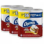 Amazon $15 Off $50 Household Items: 36 Super Mega Rolls Charmin Ultra Strong Toilet Paper $38.58 & More