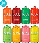 18-Pack bubly Sparkling Water, 8 Flavor Variety Pack, 12 fl oz. cans $3.70