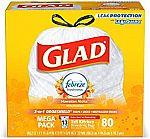 160-Ct 13-Gallon Glad Tall Kitchen Drawstring Trash Bags $16 or Less