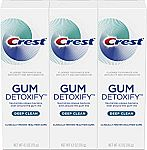 3-Pack 4.1oz Crest Gum Detoxify Deep Clean Toothpaste $10.49