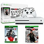 Xbox One S 1TB NBA 2K19 Bundle + Gears 5 Standard Edition $215
