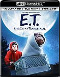 E.T. The Extra-Terrestrial (4K Ultra HD + Blu-ray + Digital HD) $10