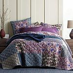 The Company Store Midnight Garden Floral 100% Cotton Patchwork, Reversible Quilt Twin $45; Queen $59 & More