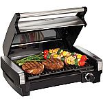 Hamilton Beach Electric Indoor Searing Grill $48 (Org $85) + Free Shipping