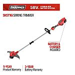 Snapper 16 in. 58-Volt Lithium-Ion Battery Straight Shaft String Trimmer (Battery Included) $78
