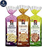 6 Count Quaker Large Rice Cakes, Gluten Free, 3 Flavor Variety Pack $8.99