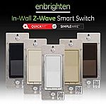 GE 46201 Enbrighten Z-Wave Plus Smart Light Switch with QuickFit and SimpleWire $29.99