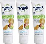 3-Pack Tom's of Maine Anticavity Fluoride Children's Toothpaste $7.12 & more