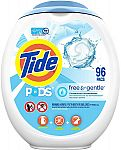 96 Count Tide PODS Free and Gentle Laundry Detergent $16.42