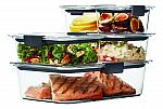 Rubbermaid Brilliance Leak-Proof Food Storage Containers with Airtight Lids, Set of 5 $13
