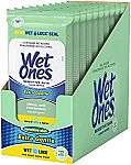 Wet Ones Sensitive Skin Hand Wipes, 20 Count (Pack Of 10) $8.36 or Less