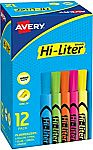 12-Count Avery Highlighters $2.78