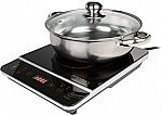 "Rosewill 1800 Watt Induction Cooker Cooktop w/ 10"" Stainless Steel Pot $35 + Free Shipping"