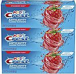3-Pack 4.2-oz Crest Kid's Cavity Protection Fluoride Toothpaste (Strawberry Rush) $4
