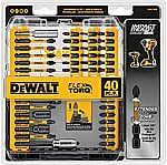40-Piece DeWALT DWA2T40IR Impact Ready FlexTorq Screw Driving Set 14.64