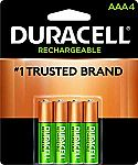 4-Count Duracell - Rechargeable AAA Batteries $4.87