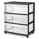 STERILITE 29309001 Wide 3 Drawer Cart $14.96