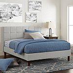 Better Homes & Gardens Knox Upholstered Platform Bed, King $141 (Org $411)