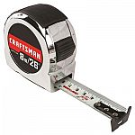 CRAFTSMAN CHROME 26-ft Tape Measure $2.09