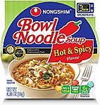 4-Count NongShim Bowl Noodle Soup (Hot & Spicy) $2 or Less