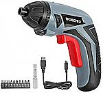 WORKPRO Cordless Rechargeable Lithium Ion Power Screwdriver $10