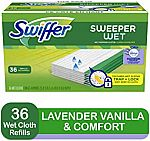 3 Pack 36-Ct Swiffer Sweeper Wet Mopping Pad Refills $22.38