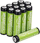 12-Count AmazonBasics AAA Rechargeable Batteries, Pre-charged $10.79