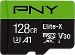 PNY Elite-X Micro SD 128GB, U3, V30, A1, Class 10 $13 & More