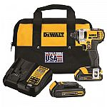 DEWALT 20-Volt Max Variable Speed Cordless Impact Driver (2-Battery) $59 (YMMV)