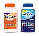 Amazon Vitamins & Supplements Sale: Men's 200-Ct One A Day Multivitamins $10.50 & More