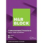 H&R Block 2019 Deluxe + State PC (Digital Download) $19.99 (org $45)