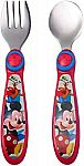 The First Years Disney Baby Mickey Mouse Stainless Steel Flatware $2.48