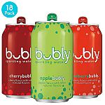 18-Pack of 12oz Bubly Sparkling Water (3-Flavor Variety Pack) $5.61