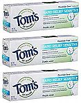 Tom's of MaineSensitive Toothpaste Fresh Mint, 4 Oz 3-Pack $2.49