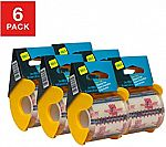 6-Pack Seal-It Clear Shipping Tape w/ Palmguard Dispenser $4.20