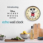 Amazon Echo Wall Clock Disney Mickey Mouse Edition $37.49