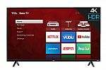 TCL 55 inch 4K Ultra HD HDR Roku Smart TV $255