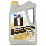 Mobil 1 Extended Performance Advanced Full Synthetic 5W-20 Motor Oil, 5 qts $15.72
