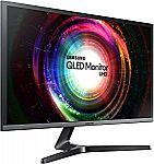 "Samsung UH750 28"" QLED 4K UHD 1ms LED-Lit FreeSync Monitor (LU28H750UQNXZA) $259.99"
