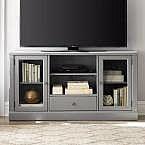 Edinburgh Grey Glass Door Modular TV Stand $105.80 (80% Off)