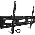 "Onn Tilting TV Wall Mount Kit for 24"" to 84"" TVs with HDMI Cable $20"