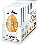10-Pack 1.15-Oz Justin's Classic Peanut Butter Squeeze Packs $3.77