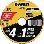 5-Pack DEWALT Cutting Wheel 4-1/2-Inch $2.99
