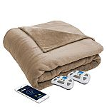 Serta Perfect Sleeper Bluetooth Wireless Heated Blanket (Various Colors) $79.98