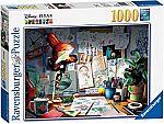 Ravensburger Disney Pixar - The Artist's Desk Puzzle 1000 Piece Jigsaw Puzzle $8.57