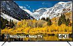 "Westinghouse 58"" LED 2160p Smart 4K UHD TV with HDR Roku TV $280"
