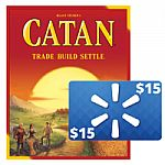 Catan Strategy Board Game: 5th Edition + $15 Walmart Gift Card $35 & More