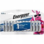12-Count Energizer Ultimate Lithium AA Batteries $11.99