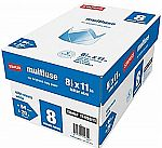 """8-Reams Staples Multipurpose Paper, 8.5"""" x 11"""" $24 (Org $56) & More + Free Shipping"""