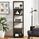 Mainstays Atmore Industrial Barnwood 5-Shelf Media Tower $65